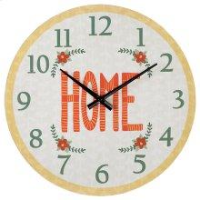 """Home"" Wall Clock."