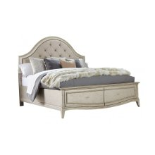 Starlite Queen Upholstered Panel Bed with Storage