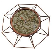 Geo Table Clock Antique Bronze