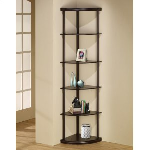 CoasterCasual Cappuccino Corner Bookcase