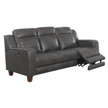 Power Sofa W/2 Power Headrests-top Leather #graphite