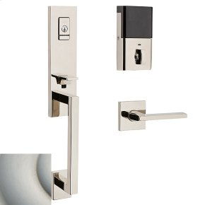Satin Nickel with Lifetime Finish Evolved Minneapolis 3/4 Escutcheon Handleset