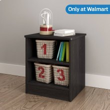 Nightstand with Open Storage - Gray Oak