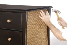 Optional Rattan Panel and Drawer Pulls