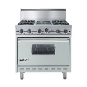"Sea Glass 36"" Open Burner Commercial Depth Range - VGRC (36"" wide, four burners 12"" wide char-grill)"