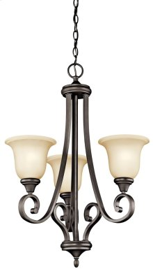 Monroe 3 Light Chandelier Olde Bronze®