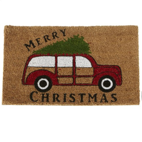 """""""Merry Christmas"""" with Woody Car Doormat."""