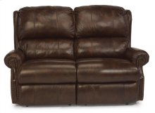 Comfort Zone Leather Power Reclining Loveseat