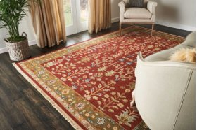 Nourmak Sk92 Burgundy Rectangle Rug 9'10'' X 13'10''