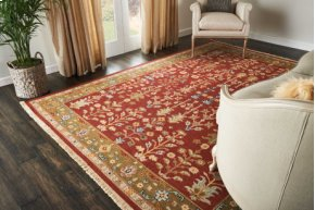 Nourmak Sk92 Burgundy Rectangle Rug 5'10'' X 8'10''