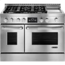 """Pro-Style® Gas Range with Griddle and MultiMode® Convection, 48"""" Product Image"""