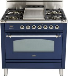 "Midnight Blue - Nostalgie 36"" Gas Range"