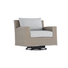 Emerald Home Reims Swivel Glider Lounge Chair Spuncrylic 7101-71 Sketch Grey Ou1207-06-09