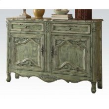 Antique Greeen Console Table
