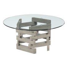 Emerald Home Jenga Coffee Table Driftwood T833-00-k
