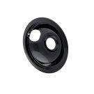 Smart Choice 6'' Black Porcelain Drip Bowl, Fits Most Product Image