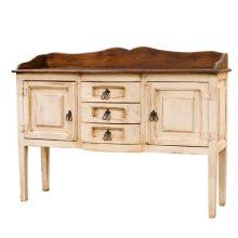 Henriette White/Walnut Sideboard