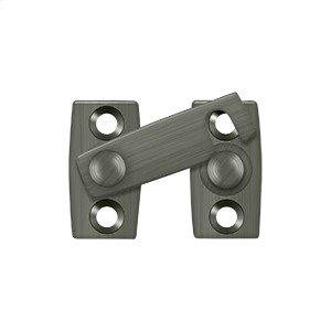"""Shutter Bar/Door Latch 1 1/8"""" - Antique Nickel"""