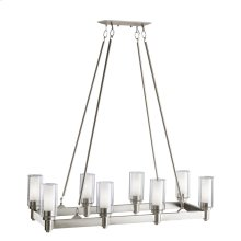 Circolo Collection Circolo 8 Light Linear Chandelier - Brushed Nickel