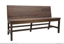 Solid wood Bench w/ Back Rest, Taos finish