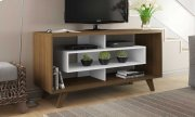 Rust & White TV Stand Product Image