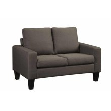 Bachman Transitional Grey Loveseat