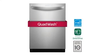 Top Control Dishwasher With Quadwash , Height Adjustable 3rd Rack and Tub Lights