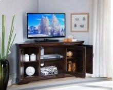 "Chocolate Bronze 46"" Corner TV Console #81385"