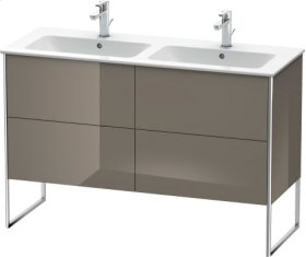 Vanity Unit Floorstanding, Flannel Grey High Gloss Lacquer