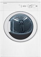 """24"""" Vented electric dryer 3.5 cu ft, white, (22"""" deep), Glass Door Product Image"""