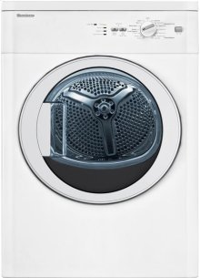 "24"" Vented electric dryer 3.5 cu ft, white, (22"" deep), Glass Door"