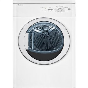 "Blomberg24"" Vented electric dryer 3.5 cu ft, white, (22"" deep), Glass Door"