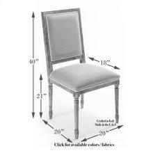 Square Back Side Chair Frame