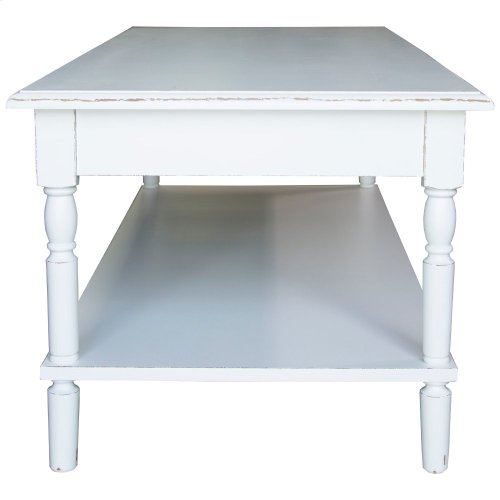 Coffee Table, Available in Shabby White Finish Only.