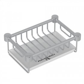 Polished Chrome Perrin & Rowe Holborn Free Standing Soap Basket