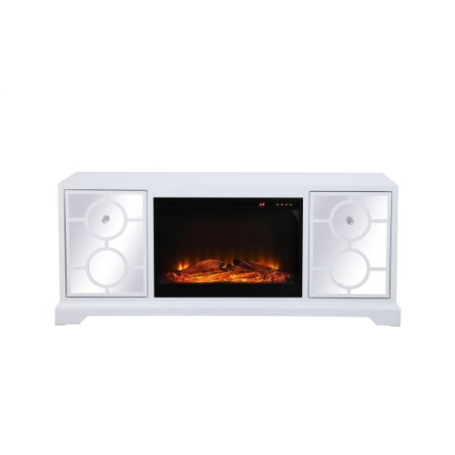 "Sleek and vibrant, this transitional media fireplace cabinet combo will make a striking statement in any room can showcase up to a 60"" flat screen TV at a perfect height. Featuring top-quality mirror panel with circle overlay and hand-painted in a semi-gloss white finish, accentuated with crystal square knobs. Functional and chic, it features 2 […]"