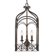 Smithsonian Gateway 3 Light Pendant in Fired Bronze