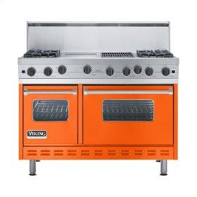 """Pumpkin 48"""" Open Burner Range - VGIC (48"""" wide, four burners 12"""" wide griddle/simmer plate 12"""" wide char-grill)"""