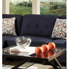 Keaton Transitional Midnight Blue and Black Armless Chair