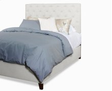 Queen Upholstered Tufted Complete Bed - Ivory Finish