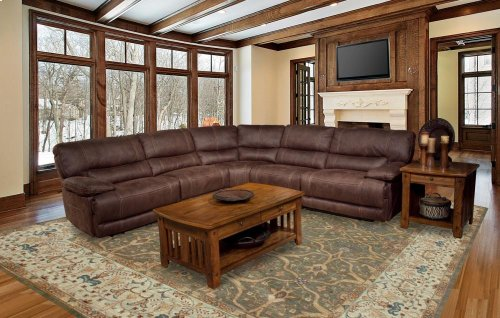 5 Piece Pegasus Reclining Power Sectional