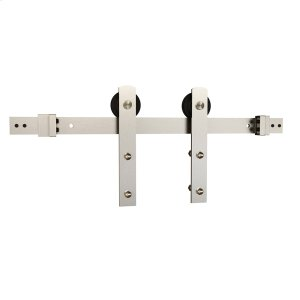 Sliding Barn Door Hardware - 8' I Strap - Satin Nickel Product Image