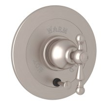 Satin Nickel Arcana Integrated Volume Control Pressure Balance Trim With Diverter with Arcana Series Only Ornate Metal Lever