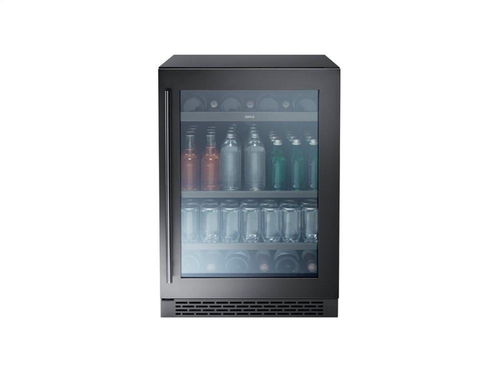 "Zephyr24"" Single Zone Beverage Cooler - Black Stainless"