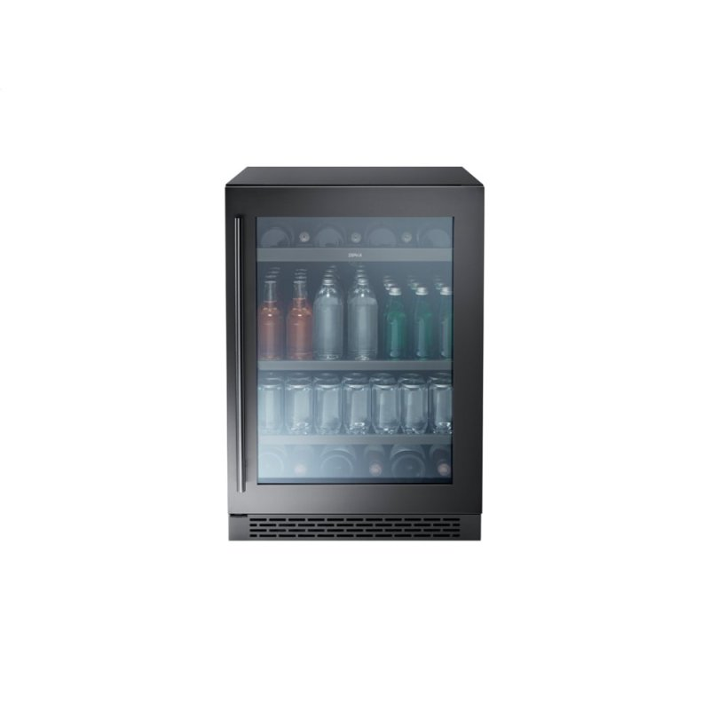 """24"""" Single Zone Beverage Cooler - Black Stainless"""