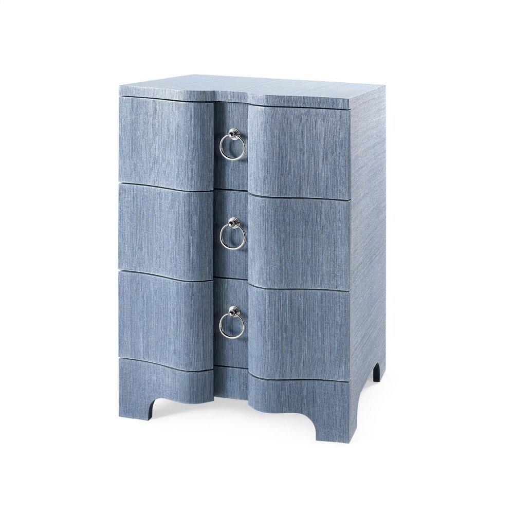 Bardot 3-Drawer Side Table, Navy Blue