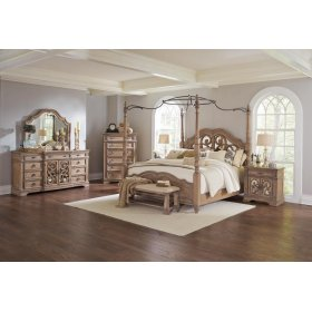 Ilana Traditional Antique Linen Queen Five-piece Set