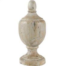 "73427  D7.5x17.5"" Chester Finial Decorative Accent, Small 2EA/CTN"