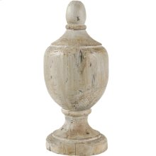 "73427  D7.5x17.5"" Chester Finial Decorative Accent, Small 2EA/CTN"