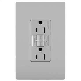 Dual Function Tamper-Resistant 15A AFCI/GFCI Receptacle, Gray